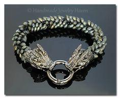 Dragon Bracelet, Kumihimo Bracelet, Khaleesi Jewelry, Viking Jewelry, Khal Jewelry, Viking Bracelet, Gift For Wife, Girlfriend Gift, Cosplay