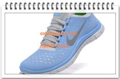 Free Shipping to Buy $64.88 2012 Nike Free 3.0 V4 Womens Blue Reflect Silver #nike #shoes nike shoes