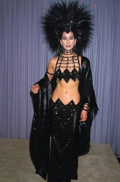 Cher ... who doesn't remember her in this outrageous attired .. only Cher can or will get away with this