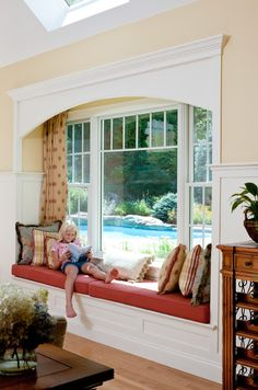 Windowseat - traditional - family room - boston - by Howell Custom Building Group