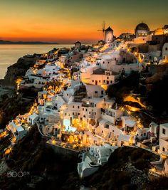 Sunset Oia Santorini by Frank Hazebroek on 500px