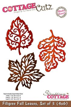 Cottage Cutz-Die-Fillagree Fall Leaves,$24.95