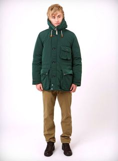 C.P. Company Goose Down Parka; Norse Projects Aros Heavy Chino; Mephisto Wild Horse