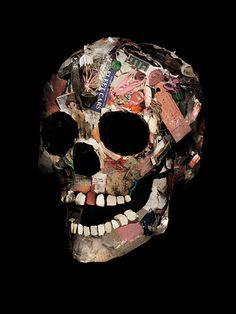 work at home Skeleton Bones, Skull And Bones, Crane, Paper Models, Art Model, Memento Mori, Skull Art, Macabre, Death