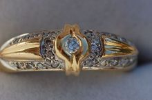 Gorgeous Antique 18 Carat Gold French Wedding Diamond Ring.