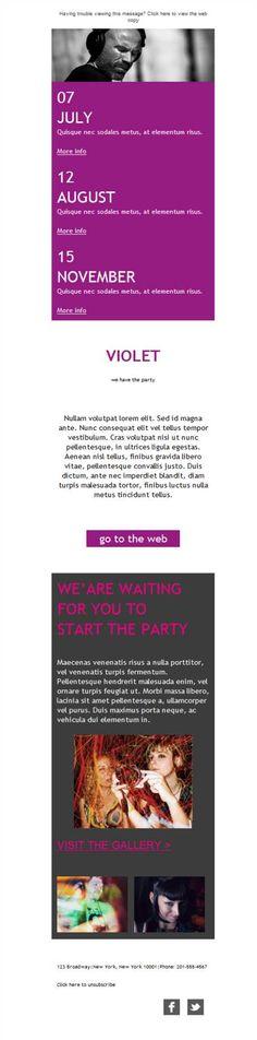 Para smartphones, para tablets, para ordenadores... ¡la versión responsive de plantillas newsletter para bares y discotecas ya está aquí! Prueba Mailify.