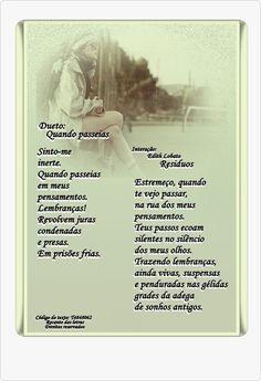 Dueto - Quando passeias. - Poesias - Casa dos Poetas e das Poesias