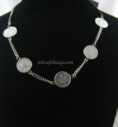 $440.00 Spanish Colonial Silver Reales c1700 #Necklace #Jewelry #Coins #Gifts…