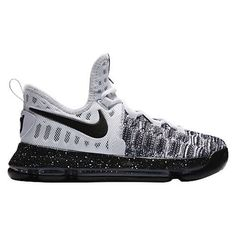 942524267137 Nike Zoom KD 9 Youth Kids  oreo  Black White Basketball Shoes Size 5Y