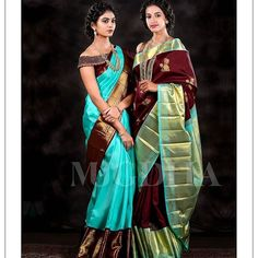 The Ultimate Silk Saree Collection That Will Get You Excited For Weddings Wedding Saree Blouse Designs, Pattu Saree Blouse Designs, Half Saree Designs, Blouse Designs Silk, Pattu Sarees Wedding, Blouse Patterns, Mehndi Designs, Half Saree Lehenga, Saree Look