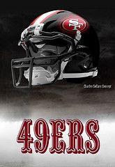 San Francisco 49ers helmets