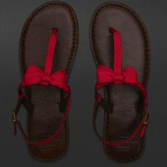 Abercrombie & Fitch RED flip flops