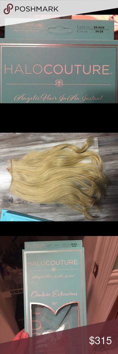 Halocouture hair Extentions Halocouture hair Extentions. 16 in long color 14-24. Only Used somewhere around 10-15 time but in great condition, no longer match my hair color. Halocoutour  Accessories Hair Accessories