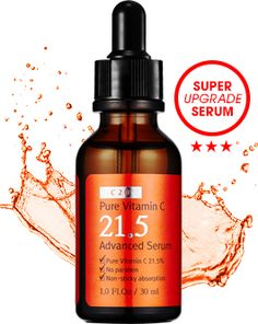 [C20] Pure Vitamin C21.5 Advanced Serum (Upgrade!)  No.1 Whitening Serum is back ! Meet the most advanced vitamin C serum, Pure Vitamin C21.5 Advanced Serum.  + 21.5% of Pure #VitaminC (6450ppm)    in one red bottle. + No artificial ingredients or irritants. + Improved absorption for     intense #hydration. + Non-sticky formula.  Brand : C20 (OST) Volume : 30ml  All Skin Types Made in Korea