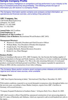 Example Of Company Profile Template Interesting Company Profile Sample  Templates&forms  Pinterest  Company Profile