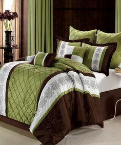 Look what I found on #zulily! Sage Livingston Embroidered Comforter Set #zulilyfinds