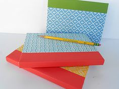 Upcycled book journals. LOVE it! Can't wait to try it!