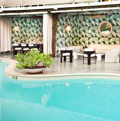 Poolside, Avalon Hotel, Beverly Hills , N d hotel booking tht has proved to b luckiest ever !!!!!!!!!!!