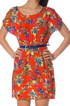 Tropic Dress with Belt Fashion Wear, Modest Fashion, Belted Dress, Casual Chic, Everyday Fashion, How To Wear, Dresses, Casual Dressy, Vestidos