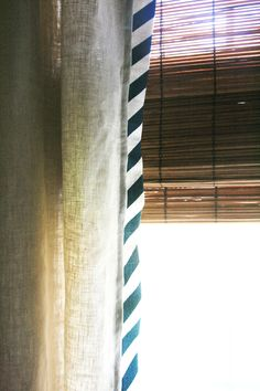 diagonal stripe curtain edge