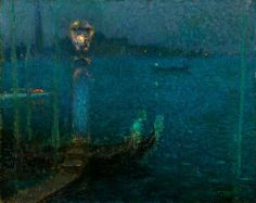Henri Le Sidaner Le Bec de Gaz - Nuit bleue 1906 - Henri Le Sidaner - Wikipedia, la enciclopedia libre