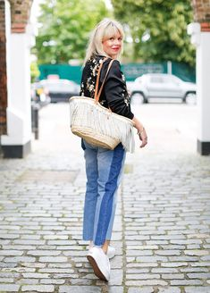 Top fashion blogger Fran Bacon shares her tips for styling Summer's bomber jacket trend.