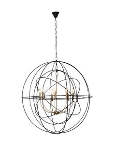 Iron Orb Pendant in Black/Brass Finish – Allissias Attic & Vintage French Style