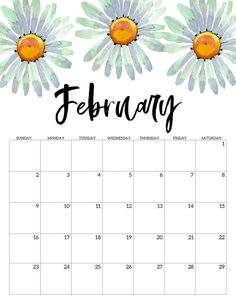 Home Interior Hallway February 2020 Free Printable Calendar - Floral. Watercolor flower design calendar pages for a office or home calendar for work or family organization. Cute Calendar, Print Calendar, Printable Calendar Template, Calendar Pages, Printable Planner, Blank Calendar, 2021 Calendar, Monthly Planner, Calendar Pictures