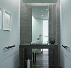 Die besten 25 toiletten tapete ideen auf pinterest halbes badezimmer renovieren wc - Dunkelbraune bodenfliesen bad ...