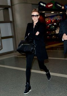 Charlize Theron airport outfit