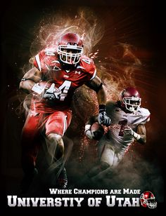 More than one player on the poster, makes the poster reach out with forward motion photographs, plays on the idea of spotlight where the outline of the player is illuminated