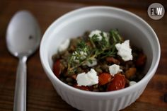 French lentils with marcona almonds and goat cheese