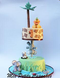 Gravity Defying Jungle Safari Cake