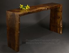 Poured Walnut Sofa Table