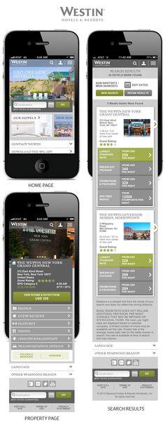 Starwood Hotels Mobile Web Sites by Stephen Gates, via Behance