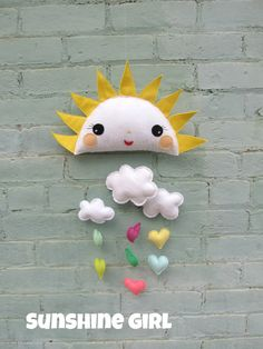 Rayon de soleil bébé Mobile tu es mon rayon de par ViolaStudio
