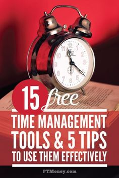 Check out these 15 free tools to help you manage your time more effectively. These are great online tools that will keep you on track with all your tasks and goals. PT also offers 5 tips to help you get the most out of these tools.