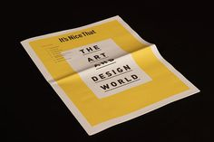 Its Nice That Newspaper by Elliot Galbraith The Effective Pictures We Offer You About newspaper aesthetic A quality picture can tell you many things. You can find the most beautiful pictures that can Ad Design, Book Design, Layout Design, Print Design, Report Design, Design Trends, Newspaper Design Layout, Book Layout, Editorial Layout