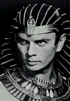 the magnetic gaze of Russian-born American stage and film actor, model, television director, photographer and author, Yul Brynner