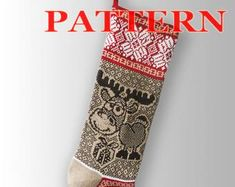 Knitted Christmas Stocking Patterns. by SELENMAR on Etsy Knitted Christmas Stocking Patterns, Knitted Christmas Stockings, Christmas Knitting, Etsy Seller, Creative
