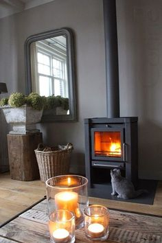35 Best Ideas For Living Room Country Fireplace Log Burner Diy Fireplace, Fireplaces, Country Fireplace, Stove Fireplace, Decoration Inspiration, Log Burner, Modern Country, Country Life, Living Room Inspiration