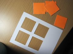 Making a window card with a square punch -- tutorial