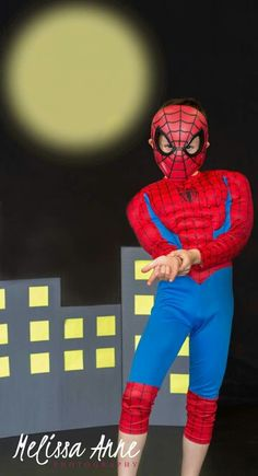 Suoer hero | Melissa Anne Photography www.photographybymelissac.com #superhero #spiderman #MelissaAnnePhotography #minisession
