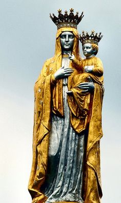 Our Lady of Czestochowa at the entrance of the Shrine of Lady of Czestochowa in Doylestown, Pennsylvania. This shrine is a wonderful place to visit with your family, and you don't have to fly to Europe to make this pilgrimage!