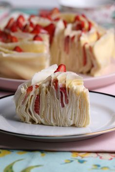 Strawberry Rose Crepe Cake Recipe by Tasty