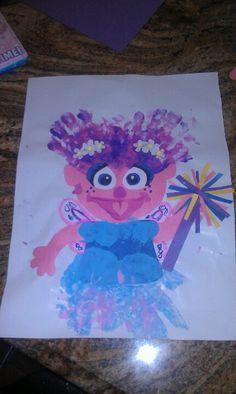 Hand print Abby Cadabby