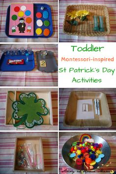 Montessori-inspired Toddler St Patrick's Day Activities and Trays