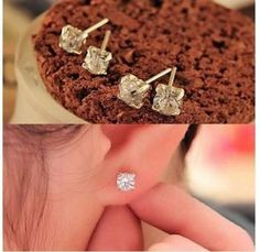 Fashion Jewelry Stud Earrings Gold Plated Weddings Party Gift Promise Ring Sets