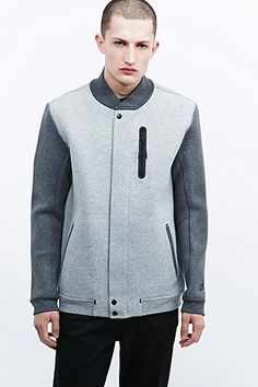Nike Tech Varsity Jacket in Grey - Urban Outfitters