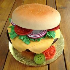 cheeseburger cake - totally cute